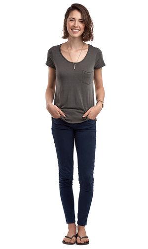Echoleft female persona standing hands in pockets