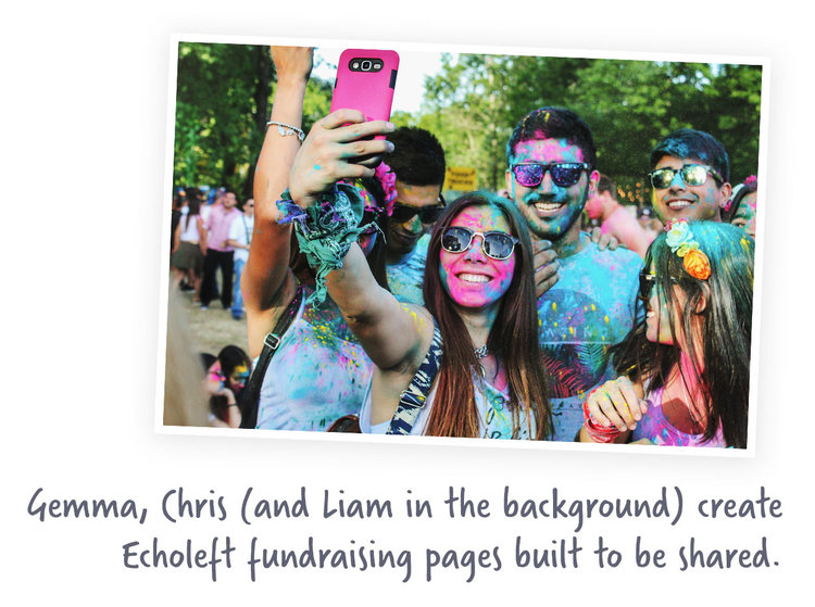 Echoleft promo point colour run photo